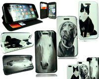 New Premium Leather Dog Cat Horse Pet Case For Apple iPhone 5S 6S + Screen Guard