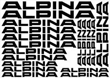 Alpina Cut Vinyl Decal Sticker Sheet (BMW Tuning, Wheels) *Your colour choice*