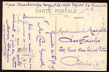 France 1915 PPC from Mars Deschamp 24 Infantry Hospital 37 Granville to Paris