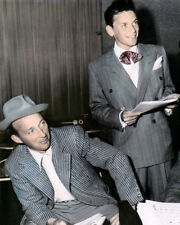 "FRANK SINATRA BING CROSBY SINGERS & ACTORS 8x10"" HAND COLOR TINTED PHOTOGRAPH"