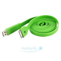 2M Noodle USB Sync Data Charging Charger Cable Cord for iPhone 4G/iPad 2/3 /iPod