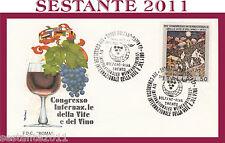 ITALIA FDC ROMA CONGRESSO DELLA VITE E VINO 1974 ANNULLO SPECIALE BOLZANO G552