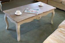 Casamoré Devon Shabby Chic Cream Painted Frame Coffee Table W120 X D60 X H50cm