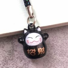 Fortune Lucky Beckoning Cat Maneki Neko Keyring Keychain Key Ring Chain Gift I *