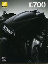 NIKON brochure pub. D700 édition 06/2008. en français