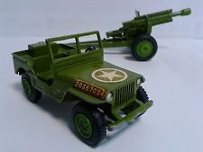 Dinky Toys Battle Lines US Army Set of 2 - Jeep 615 Meccano & Howitzer 105mm