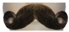 Extra Full Curl  Mustache - Human Hair Handlebar Mustache M77