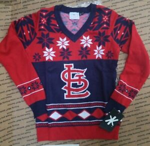 NWT KLEW MLB St. Louis Cardinals Christmas Ugly Sweater? SZ S Logo Teem Sports