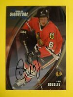 2002-03 IN THE GAME PHIL HOUSLEY SIGNATURE SERIES AUTOGRAPHED CARD