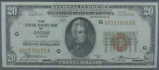 1929 $20 Chicago 1870-G Federal Reserve Bank Note PMG Certified