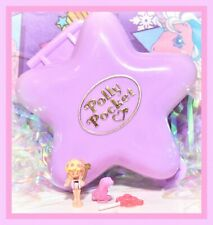 ❤️Polly Pocket VTG 1992 Fairy Fantasy Glade Star COMPLETE Compact Pink Otter❤️