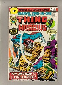 MARVEL TWO-IN-ONE #15_MAY 1976_VERY FINE_THE THING & MORBIUS_BRONZE AGE UK!