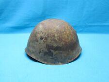Ww Ii Italian Steel Combat Helmet Italy M33 Camouflage Original Wire W/Liner