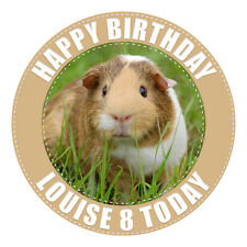 GUINEA PIG PERSONALISED EDIBLE ICING IMAGE BIRTHDAY PARTY CAKE DECORATION TOPPER