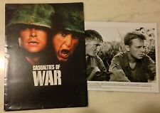 CASUALTIES OF WAR (1989) Press Kit Folder, Photos; Brian De Palma; Sean Penn