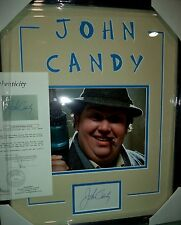 """JOHN CANDY """"UNLCE BUCK"""" MOVIE SIGNED AUTOGRAPHED DOUBLE MATTED FRAMED JSA LOA"""
