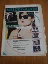 MELODY MAKER 1989 OCTOBER 7 SIOUXSIE BEAUTIFUL SOUTH U2 TRACY CHAPMAN <