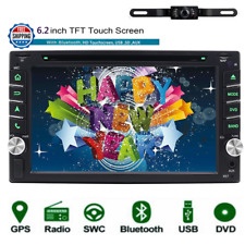 "6.2"" Double 2 din GPS Navigation Car Radio Stereo DVD Player+Back Camera Map"
