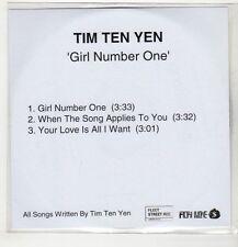 (GS948) Tim Ten Yen, Girl Number One - 2007 DJ CD