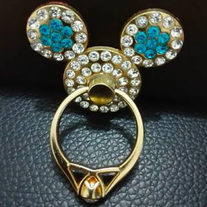 Diamonds Mouse Holder Mobile Phone Finger Ring Universal Crystal Christmas Gift