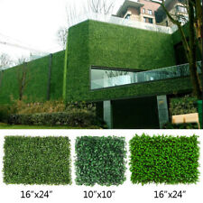 10pcs Artificial Grass Mat Wall Hedge Privacy Screens Fence Panel Yard Decor