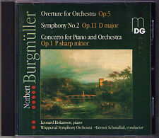 Norbert BURGMÜLLER 1810-1836 Symphony No.2 Piano Concerto Dionys Overture CD MDG