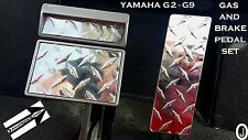 Yamaha g2 to g9 Golf Cart Highly Polished Aluminum Diamond Plate 3 pc.Pedal Set