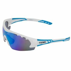 Bikeit Arina Revolution Mirror Lensed Cycling Glasses With White/Blue Frame