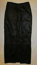 LAUNDRY SHELLI SEGAL lamb leather maxi full length fitted sexy dom goth skirt 2