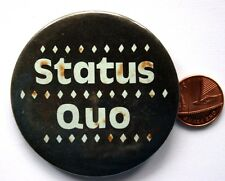 Status Quo Logo Old Vtg 1970 `S Très Grand Badge à Épingle Poêle à Frire (Non