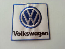 MOTORSPORTS MOTOR RACING CAR SEW / IRON ON PATCH:- VW VOLKSWAGON (a) SQUARE