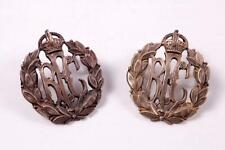 More details for ww1 british military rfc royal flying corps brass collar dogs lapel badge 1 pair