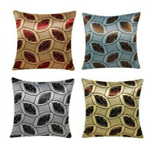 Abstract Plush Leaf Print Square 18 X 18 Cushion Covers Pillowcase for Sofa Bed
