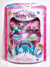 Twisty Petz Glitzy Panda Fluffles Bunny + 1 Hidden 3 Pack Series 1 Bracelet