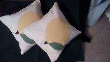 Jonathan Adler Fruit Collection Wool Pillows