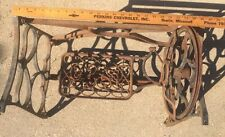 Vintage Ornate Cast Iron Legs Base Stand Sewing Machine Short Coffee Table