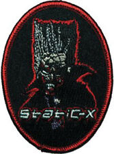 STATIC-X Spiked Hair Man Embroidered Iron On PATCH NEW OFFICIAL MERCHANDISE Rare