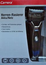 CARRERA Akku/Netz Herren Rasierer, für Nass-& Trockenrasur / NEU!