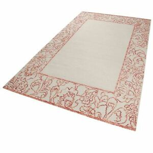 Esprit Kayla Kelim Rugs 6116 01 in Red Wool Floral Bouquets Chic Border Carpets