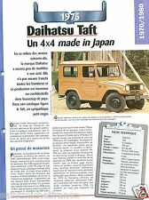 4X4 Daihatsu Taft 4 Cyl. 1975 Japan Japon Car Auto Retro FICHE FRANCE