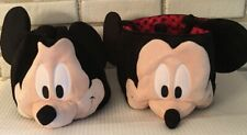 "2 Mickey Mouse Treat Party Bags Disney New Soft/Plush Jumping Beans 7"" deep"
