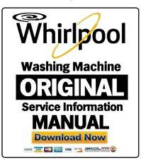 Whirlpool Washing Machine or Dryer Service Manual EU model