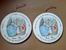 "Wedgwood Of Etruria Beatrix Potter ""Peter Rabbit"" Wall/Nursery Plaques"