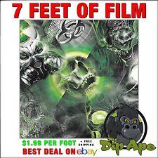 Hydrographic film Skulls Bio Death full color hydro dip dipping 7'feet  Dip Ape