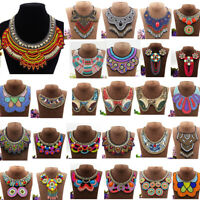 Bohemia Tassel Necklace Pendant Statement Choker Ethnic Bib Tribal Jewelry Women