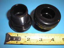 "3/4"" Bulkhead Fitting Slip x Slip - High Quality Black ABS"