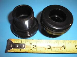 "3/4"" Bulkhead Fitting Slip x Slip - High Quality Black ABS"