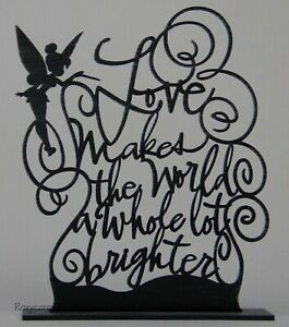 Hallmark Disney Tinkerbell Silhouette Love Makes World Whole Brighter Figurine