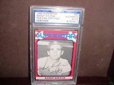 1982 SANDY KOUFAX superstar signed AUTO baseball CARD PSA/DNA SLABBED #63