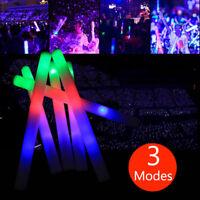 100/ 200/ 300 PCS Flashing Glow Foam Sticks Light Up LED Wands Batons DJ Rave